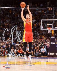 "Chandler Parsons Houston Rockets Autographed 8"" x 10"" Buzzer Photograph with Go Rockets Inscription"