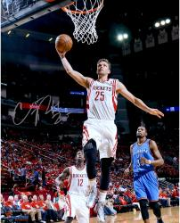 "Chandler Parsons Houston Rockets Autographed 16"" x 20"" Dunk Photograph"