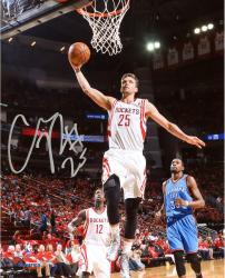 "Chandler Parsons Houston Rockets Autographed 8"" x 10"" Dunk Photograph"