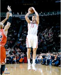 """Chandler Parsons Houston Rockets Autographed 16"""" x 20"""" Jumper Photograph"""