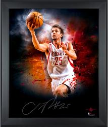 """Chandler Parsons Houston Rockets Framed Autographed 20"""" x 24"""" In Focus Photograph"""