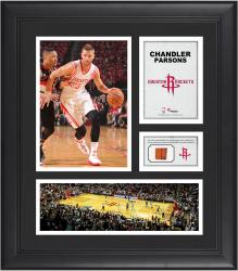 """Chandler Parsons Houston Rockets Framed 15"""" x 17"""" Collage with Team-Used Ball"""