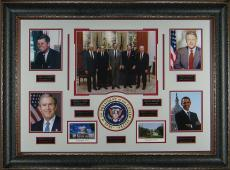 Past U.S. Presidents Historic Framed Photo Display