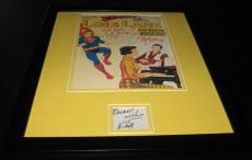 Pat Boone Signed Framed 11x14 Superman Photo Display