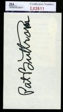 Pat Buttram Mr Haney Green Acres Jsa Authentic Signed 3x5 Index Card Autograph