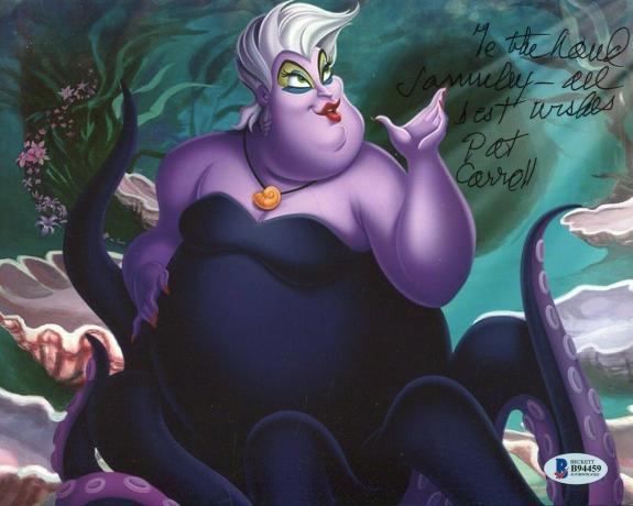 Pat Carroll The Little Mermaid Ursula Voice Rare Signed Autograph Photo BSA COA
