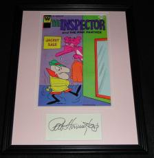 Pat Harrington Jr Signed Framed 1976 Inspector Comic Book Display Pink Panther