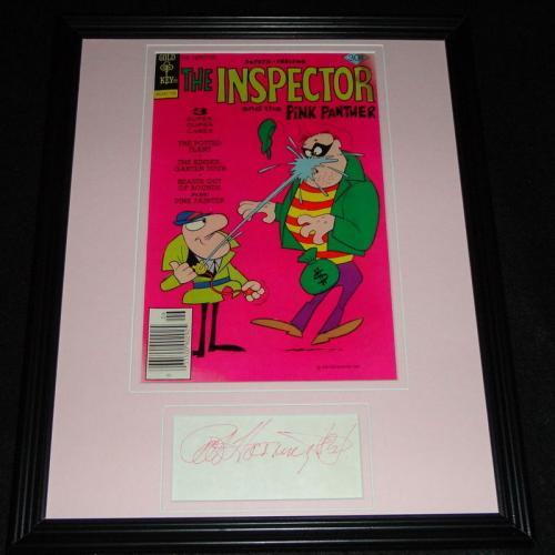 Pat Harrington Jr Signed Framed 1977 Inspector Comic Book Display Pink Panther