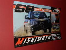 PAT MORO Autographed NEW! 11X17 Rally CAR RACING Drift Poster COA