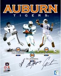 "Pat Sullivan, Cam Newton and Bo Jackson Auburn Tigers Autographed 16"" x 20"" Photograph"