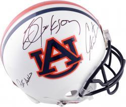 Pat Sullivan, Cam Newton and Bo Jackson Auburn Tigers Autographed Pro-Line Helmet
