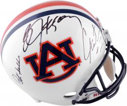 Pat Sullivan, Cam Newton and Bo Jackson Auburn Tigers Autographed Replica Helmet