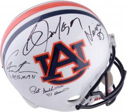 Pat Sullivan, Cam Newton and Bo Jackson Auburn Tigers Autographed Replica Helmet with Heisman Inscriptions