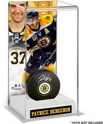Patrice Bergeron Boston Bruins Deluxe Tall Hockey Puck Case