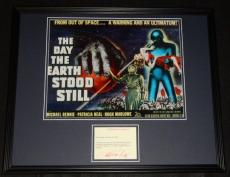 Patricia Neal Signed Framed Note & Photo Display The Day The Earth Stood Still E