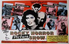 Patricia Quinn TIM CURRY Nell Campbell ROCKY HORROR Cast Signed 11x17 Canvas PSA
