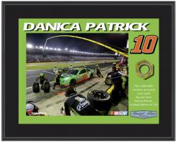 "Danica Patrick Sublimated 8"" x 10"" Plaque with Lug Nut-Limited Edition of 510"