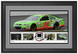 Danica Patrick Framed Panoramic with Race-Used Tire-Limited Edition of 500 - - Mounted Memories