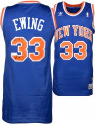 "Patrick Ewing New York Knicks Autographed Blue Addidas Jersey with ""11x All Star"" Inscription Limited Edition of 11"