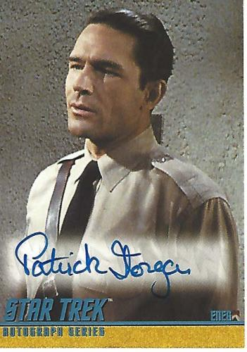 """PATRICK HORGAN as ENEG in """"PATTERNS OF FORCE"""" from """"STAR TREK"""" Signed 2004 PARAMOUNT PICTURES CERTIFIED CARD"""