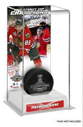 Patrick Kane Chicago Blackhawks 2015 Stanley Cup Champions Logo Deluxe Puck Case