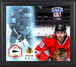 Patrick Kane Chicago Blackhawks Framed 15'' x 17'' Mosaic Collage with Piece Of Game-Used Puck-Limited Edition of 99