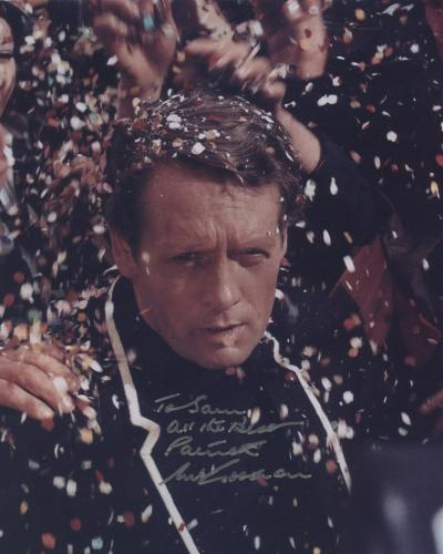 Patrick Mcgoohan Signed Autographed Color Photo The Prisoner To Sam Rare!