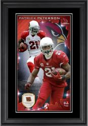 Patrick Peterson Arizona Cardinals 10'' x 18'' Vertical Framed Photograph with Piece of Game-Used Football - Limited Edition of 250