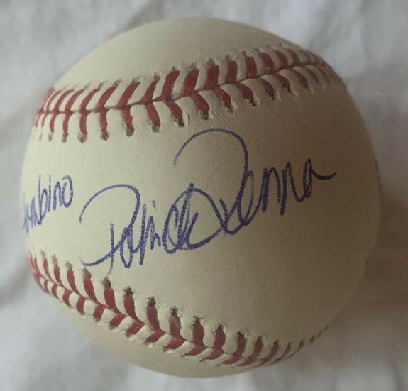 """PATRICK RENNA Signed MLB Baseball """"The Great Hambino"""" THE SANDLOT BAS COA AUTO"""