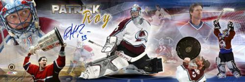 Patrick Roy Autographed Photograph - avalanche Career Panoramic