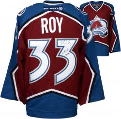 Patrick Roy Colorado Avalanche Autographed Burgundy Jersey with HOF 2006 Inscription