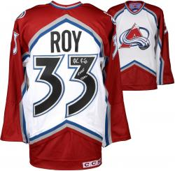 Patrick Roy Colorado Avalanche Autographed White Jersey with HOF 2006 Inscription