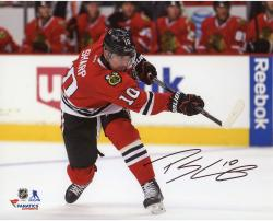"Patrick Sharp Chicago Blackhawks Autographed Red Jersey Shooting 8"" x 10"" Photograph"