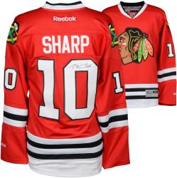 Patrick Sharp Chicago Blackhawks Autographed Red Reebok Premier Jersey