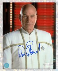 Patrick Stewart Autographed Captain Jean-Luc Picard Star Trek TNG 8x10 Photo