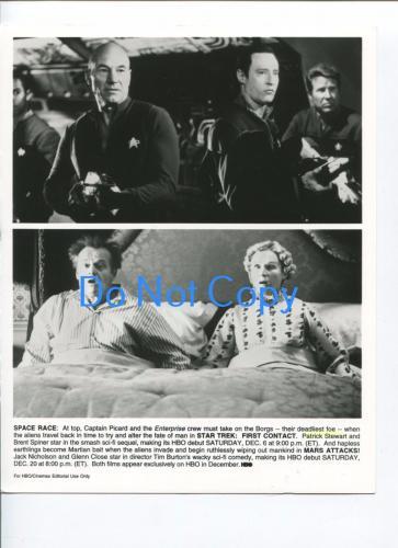 Patrick Stewart Brent Spiner Star Trek Jack Nicholson Mars Attacks Press Photo