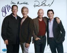 Patrick Stewart, Ian Mckellan, Billy Cudup, Shuler Hensley autographed 8x10 photo No Mans Land