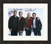 Patrick Stewart, Ian Mckellan, Billy Cudup, Shuler Hensley autographed 8x10 photo No Mans Land Matted & Framed