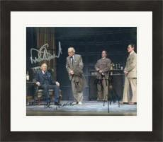 Patrick Stewart Ian McKellen Billy Crudup Shuler Hensley autographed 8x10 photo (No Mans Land Waiting for Godit) #SC2 Matted & Framed