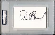 PATRICK STEWART Signed 4x6 Index Card Star Trek Picard X-Men Professor X PSA/DNA