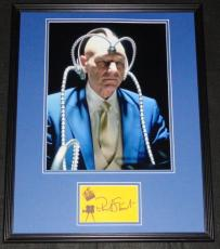 Patrick Stewart Signed Framed 16x20 Photo Display JSA X-Men Professor X
