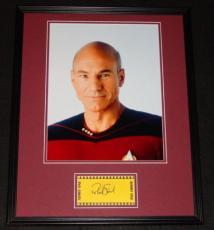 Patrick Stewart Signed Framed 16x20 Photo Display Star Trek: TNG B