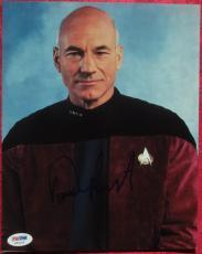 Patrick Stewart Star Trek signed 8x10 photo PSA/DNA autograph
