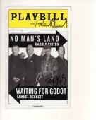 Patrick Stewart+ian Mckellen Hand Signed Nyc Playbill    Waiting For Godot   Jsa