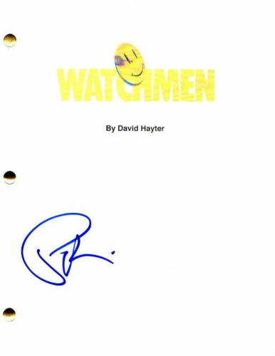 Patrick Wilson Signed Autograph - Watchmen Movie Script - Jeffrey Dean Morgan