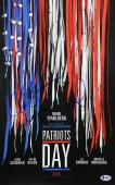 Patriot's Day Mark Wahlberg, Peter Berg & J.K. Simmons Signed 11x17 Photo BAS