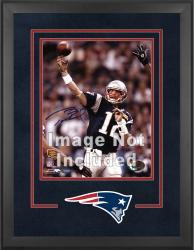 New England Patriots Deluxe 16'' x 20'' Vertical Photograph Frame with Team Logo - Mounted Memories