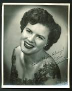"Patsy Cline ""Best Wishes Always"" Signed 8X10 B&W Photo BAS #A81574"