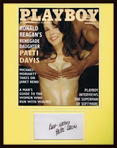 Patti Davis Signed Framed 1994 Playboy Magazine Cover Display