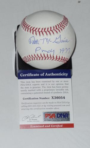 Patti Mcguire Auto'd Signed Baseball Psa/dna Coa 1977 Playmate Of The Year Nov B